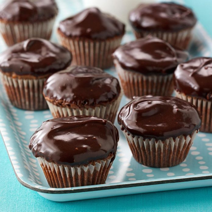 Frosted Walnut Brownie Cups