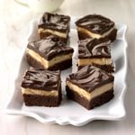 Fudgy Layered Irish Mocha Brownies
