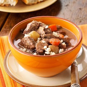 Garlic Mushroom French Beef Stew