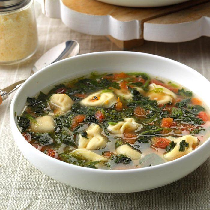 January: Garlic Tortellini Soup