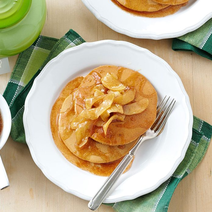 Gingerbread Pancakes with Apple Topping