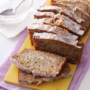 Glazed Coconut-Banana Bread