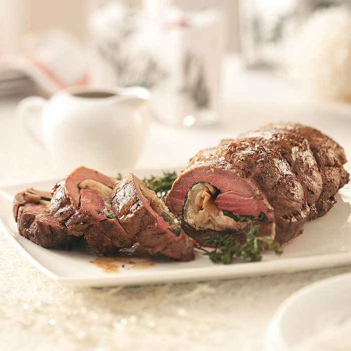 Goat Cheese & Pear Stuffed Tenderloin