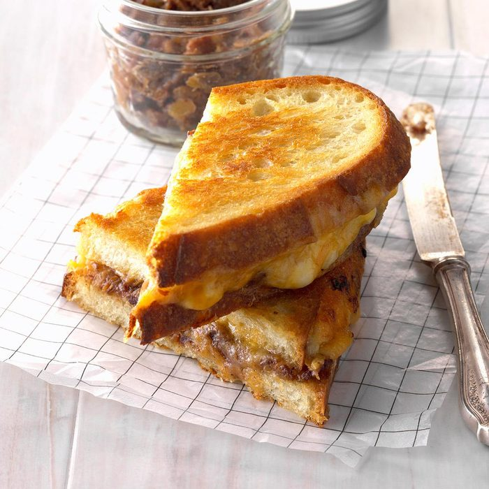 Gourmet Grilled Cheese with Date-Bacon Jam