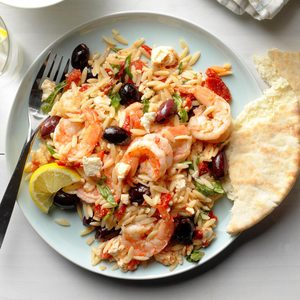 Greek Shrimp Orzo