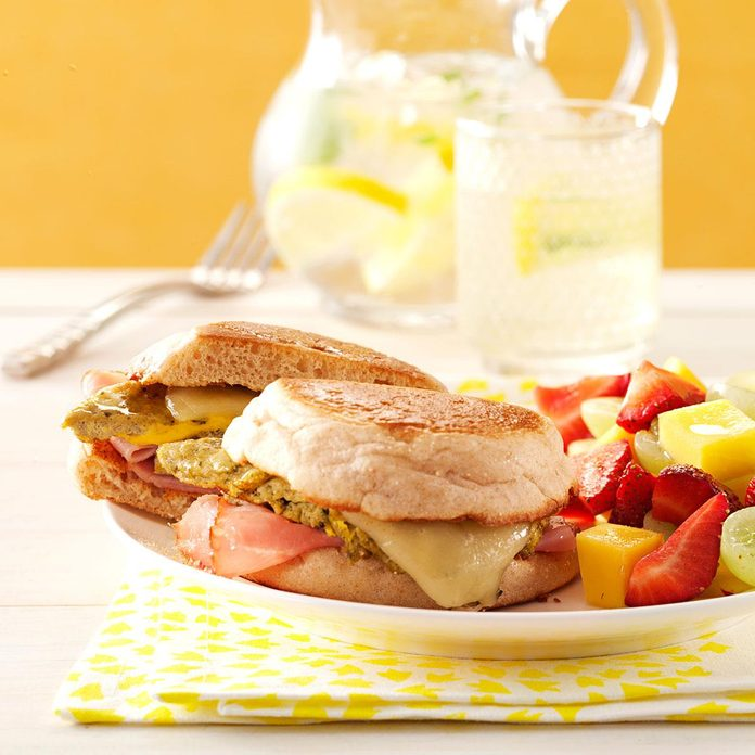 Green Eggs and Ham Sandwiches