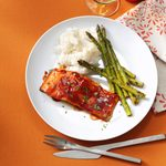 Grilled Barbecued Salmon