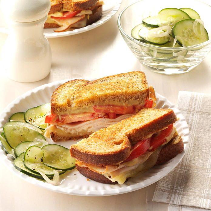 Day 4 Lunch: Grilled Hummus Turkey Sandwich