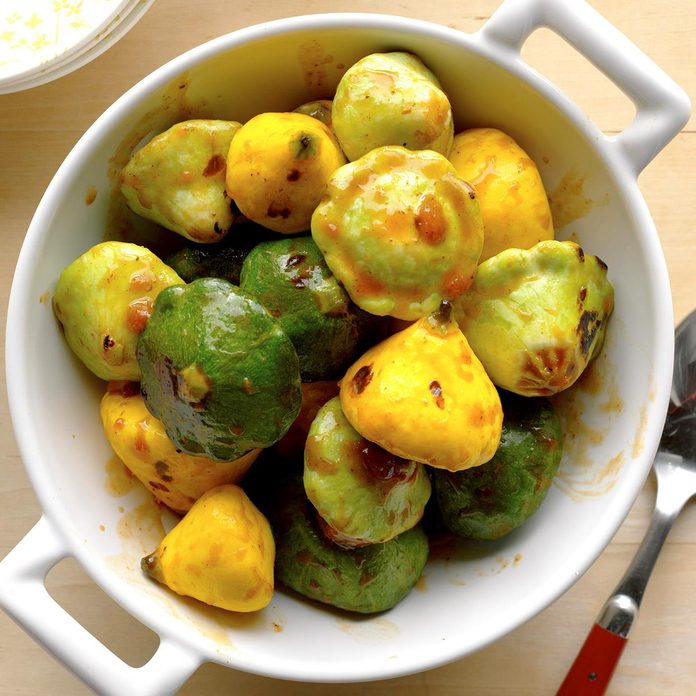 Grilled Pattypans