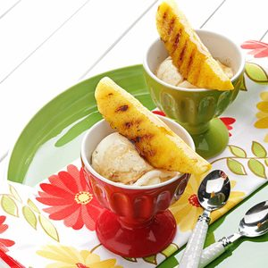 Grilled Pineapple & Maple Sundaes