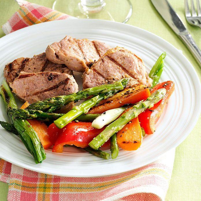 Grilled Pineapple Pork & Vegetables