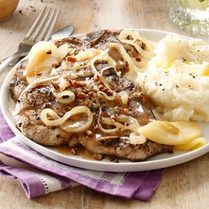 Grilled Pork Chops with Maple Butter