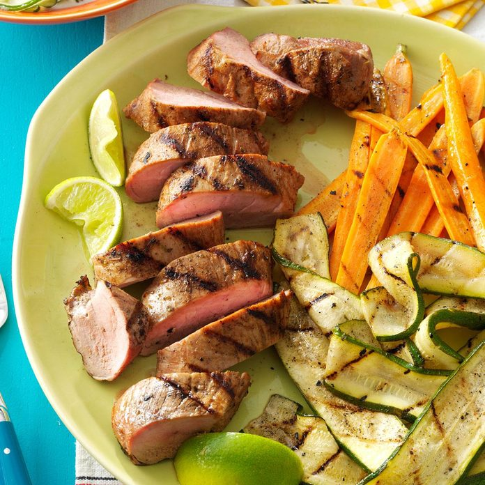 Grilled Pork Tenderloin & Veggies