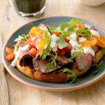 Grilled Steak Bruschetta Salad for 2