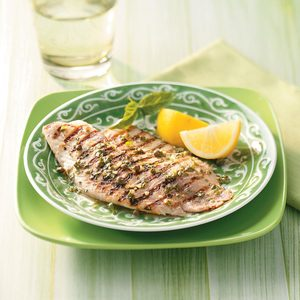 Grilled Tilapia Piccata for Two