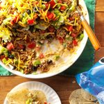 Ground Beef Taco Dip