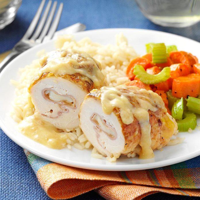Ham & Swiss Chicken Roll-Ups