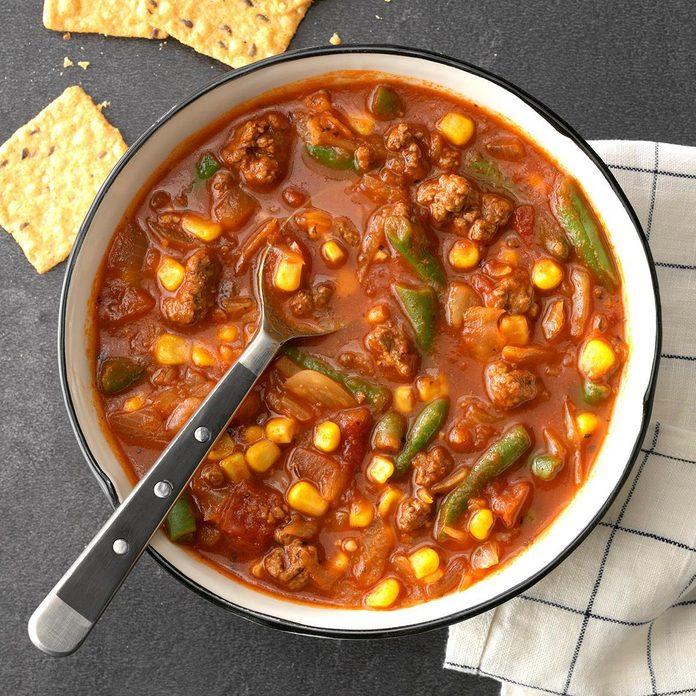 Hearty Beef Veggie Soup