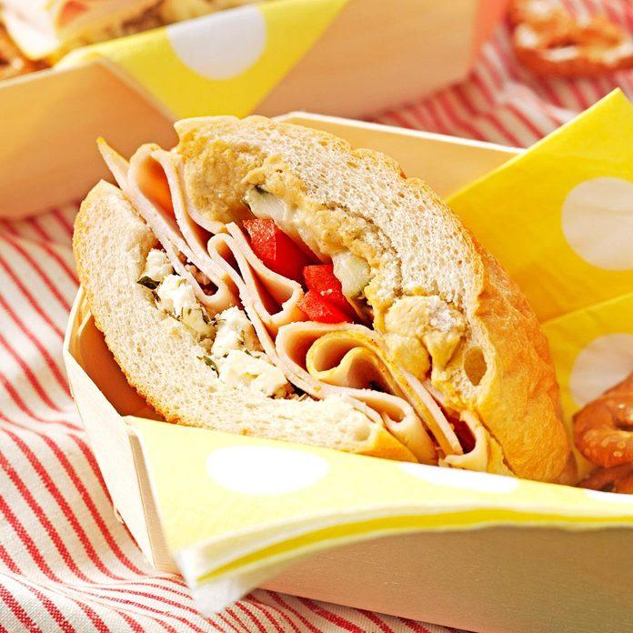 Hearty Turkey & Feta Sandwich