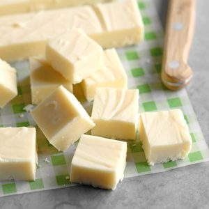 Holiday White Chocolate Fudge
