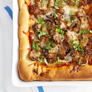 Homemade Chicago Deep-Dish Pizza