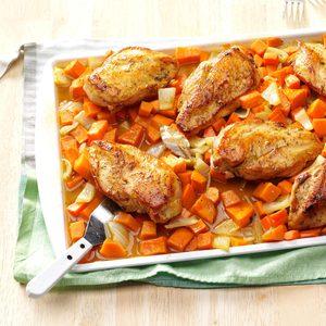 Honey-Roasted Chicken & Root Vegetables