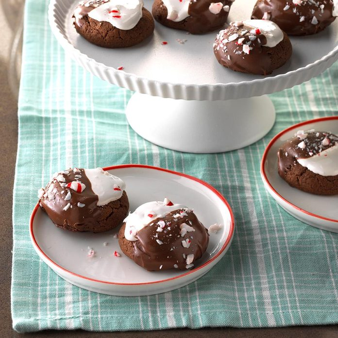 Hot Chocolate Peppermint Cookies