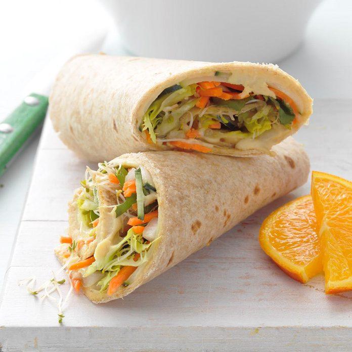 Day 13: Hummus & Veggie Wrap-Up