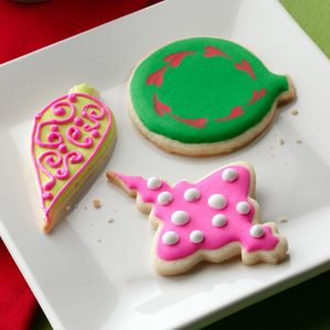 Iced Holiday Ornament Cookies