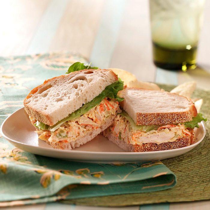 Italian Chicken Salad Sandwiches
