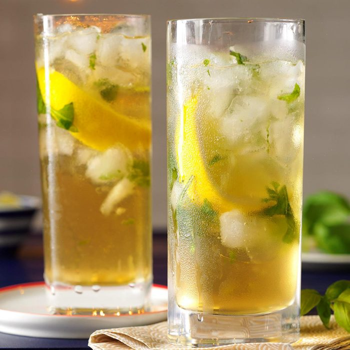 Lemon Basil Mojito Mocktails