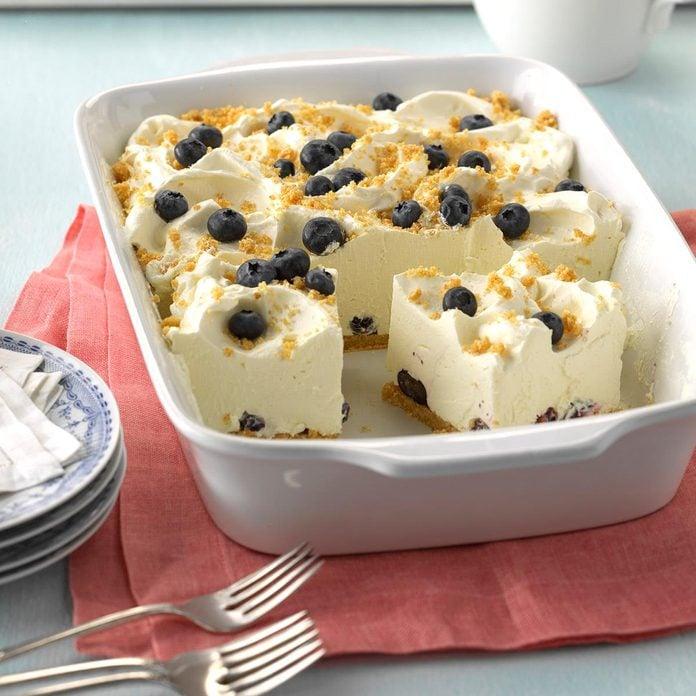Lemon Chiffon Blueberry Dessert