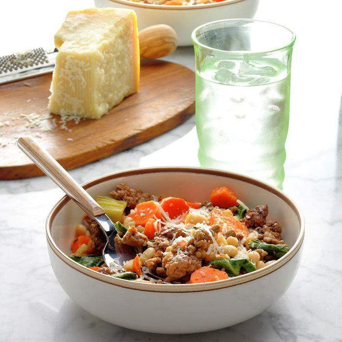 Lemony Greek Beef and Vegetables