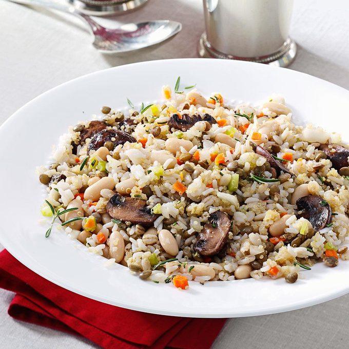 Lentil White Bean Pilaf