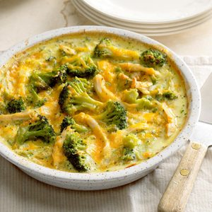 Light Chicken and Broccoli Bake