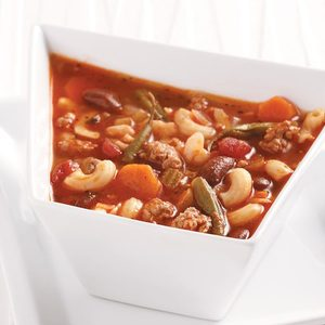 Lightened-Up Pasta Fagioli Soup