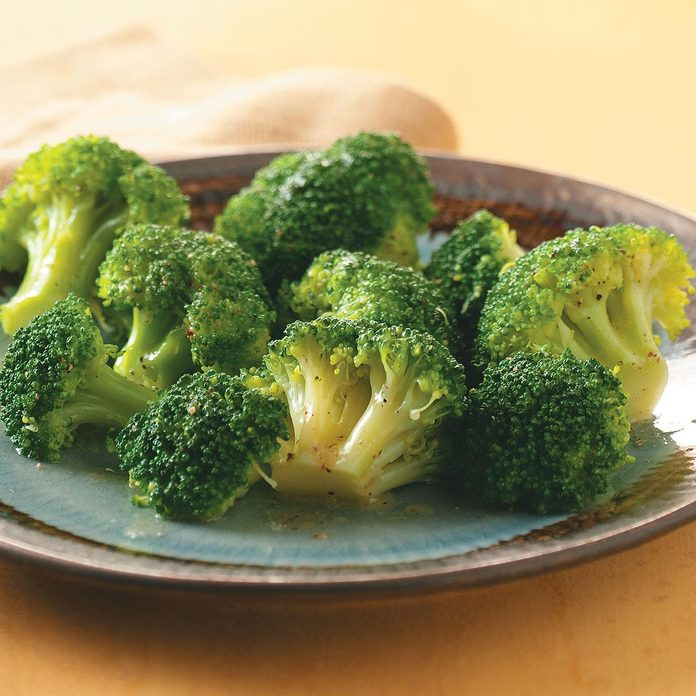 Lime-Buttered Broccoli for Two
