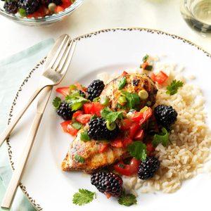 Lime Chicken with Blackberry Salsa