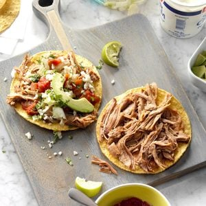 Lime-Chipotle Carnitas Tostadas