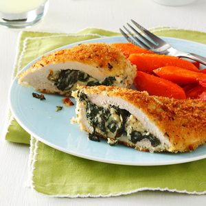 Makeover Spinach-Stuffed Chicken Pockets