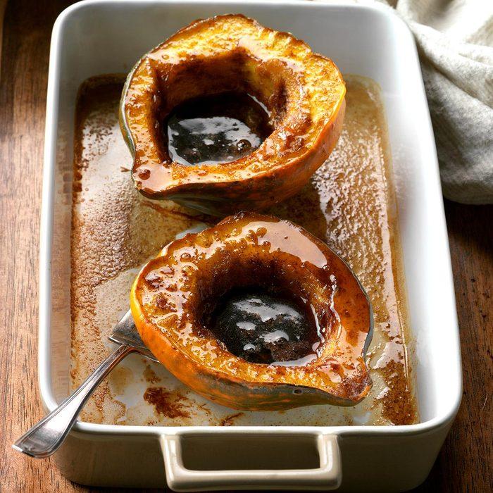 Vegan Maple-Glazed Acorn Squash