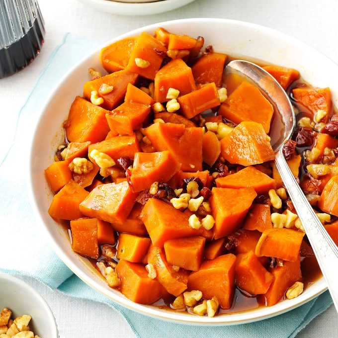 Maple-Walnut Sweet Potatoes