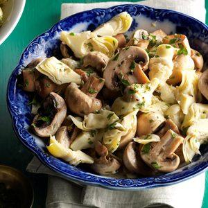 Marinated Mushrooms & Artichokes