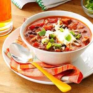 Meatless Mushroom & Black Bean Chili
