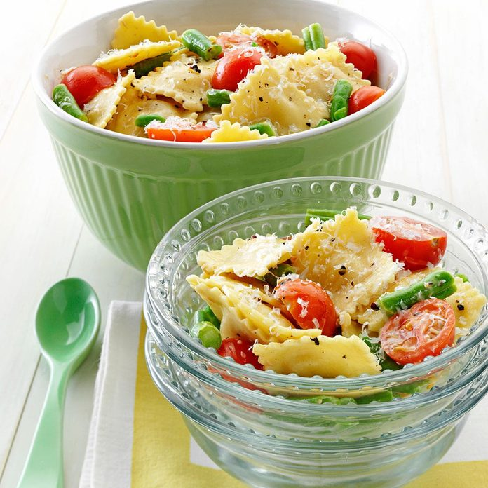 Mediterranean Pasta Caesar Toss