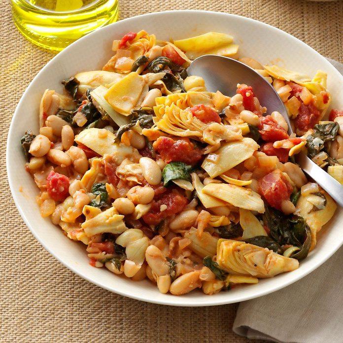 Mediterranean Spinach & Beans