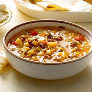 Mexican Chorizo and Corn Soup