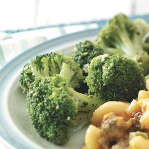 Microwaved Seasoned Broccoli Spears