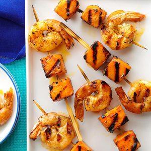 Mini Shrimp & Sweet Potato Kabobs