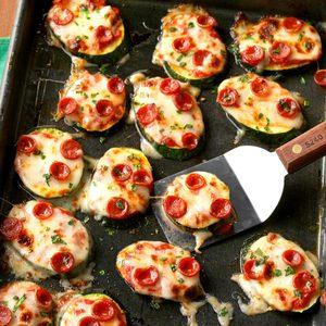 Mini Zucchini Pizzas
